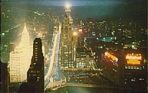 postcard-chicago-michigan-north-aerial-night-1960s